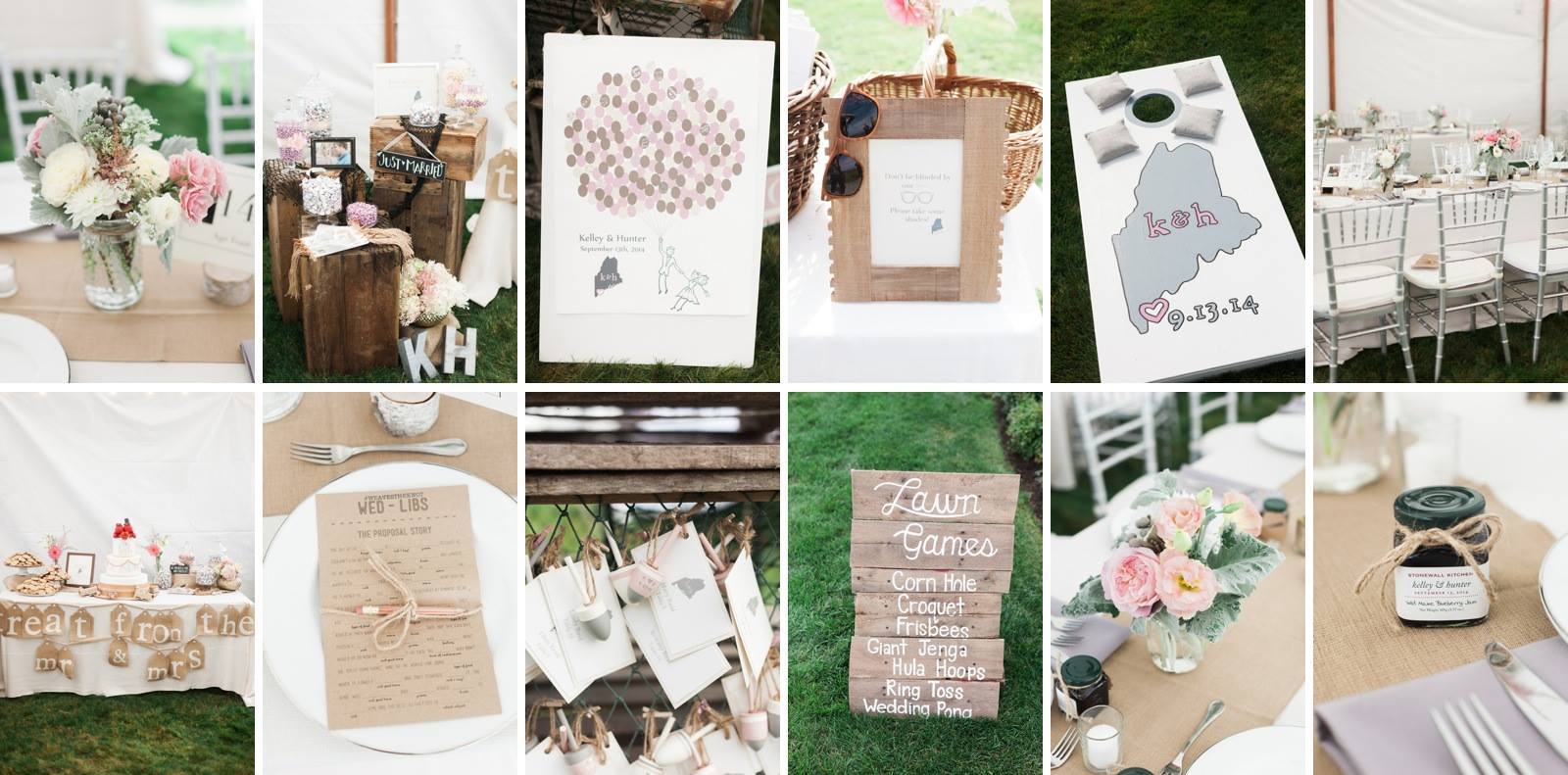 Wedding invitations, wedding decor, kennebunkport events